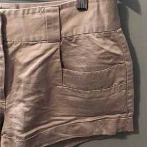 French Connection Shorts - French connection dress shorts size 6 dove gray